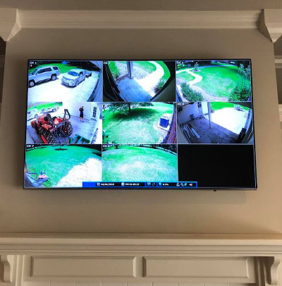 Video Feed On a Wall-Mounted Television